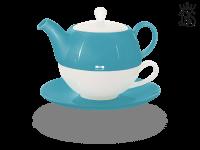 Tea for one, Lena 500 ml, Crystal Bone China, türkis