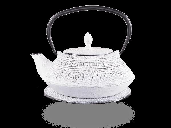 Teekanne Gusseisen Akira 1,2l weiß mit Sieb