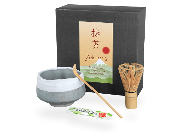 Matcha Set Japan grau/weiß