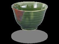 Matcha Schale handbemalt dunkelgrün 350ml, original Japan