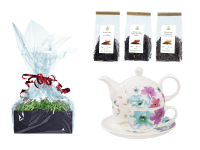 Tee Geschenk Buchensee Tea for One, Fine Bone China, Blumendeko