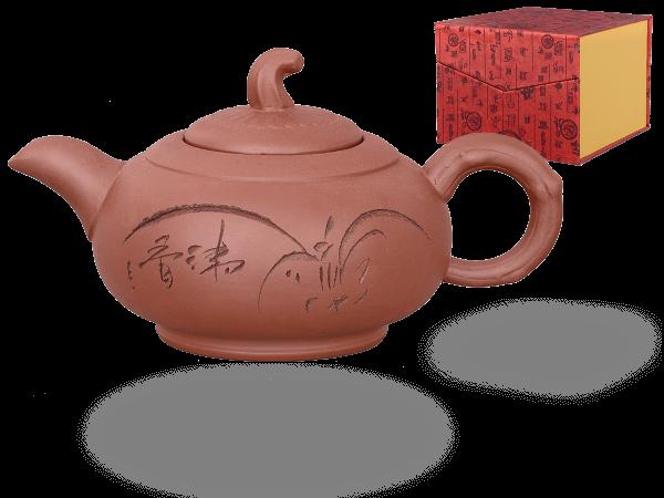 Chinesische Teekanne Ton Jinan, 450ml, in Geschenkbox