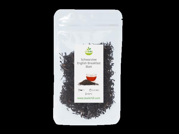 Teeprobe Schwarzer Tee English Breakfast Blatt