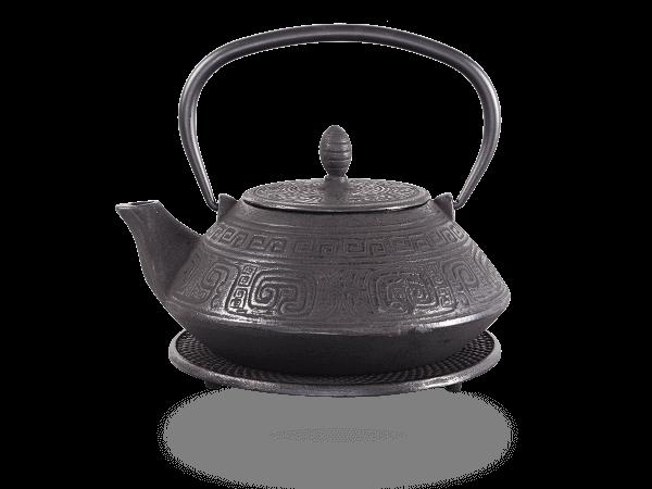 Teekanne Gusseisen Akira 1,2l schwarz mit Sieb