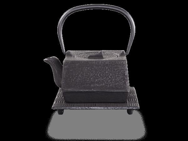 Teekanne Gusseisen Hako 0,6l schwarz mit Sieb