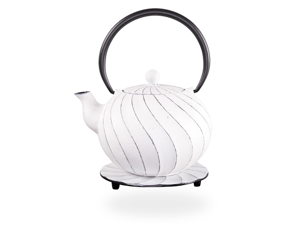 Teekanne Gusseisen Bara 1,0l weiß mit Sieb