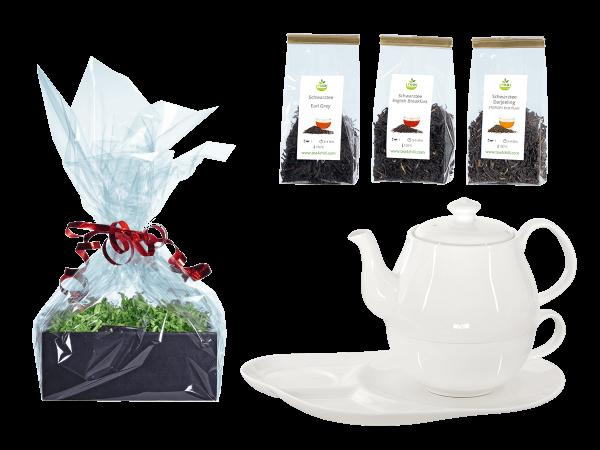 Tee Geschenk Tea for One, Daisy, Ablageteller
