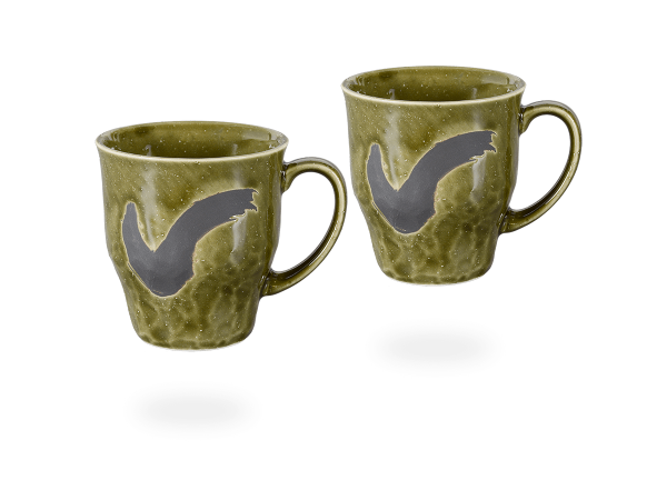 Japanische Teetassen dunkelgrün - anthrazit, 230ml