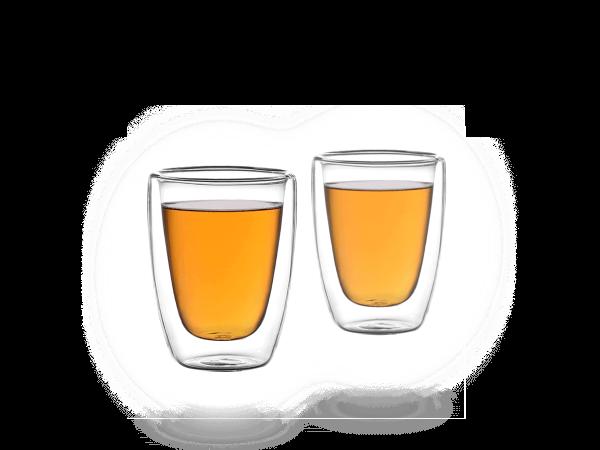 Doppelwandiges Teeglas 100ml