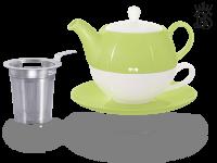 Tea for one, Lena 500 ml, Crystal Bone China, grün, Sieb