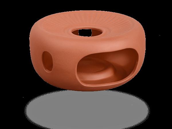 Stövchen Ton 11cm Stellfläche für Kanne