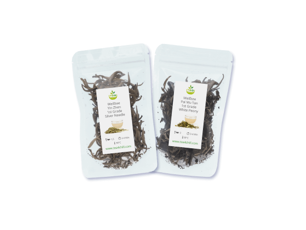 Tee Probierset mit 2 weißen Tees