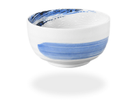 Matcha Schale handbemalt blau 450ml, original Japan