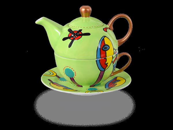 Tea for one, Modern Art Line Vera 400 ml, grasgrün
