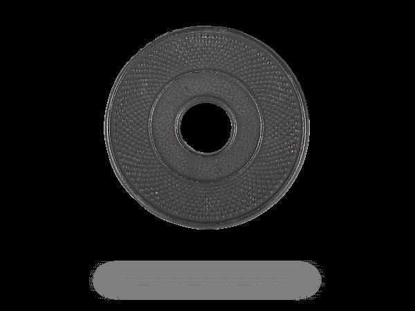 Untersetzer rund, schwarz fürTeekanne Gusseisen, 13,5cm