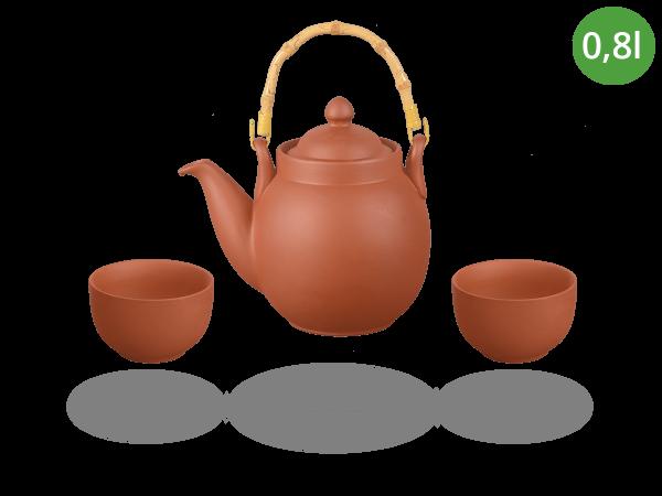 Tonservice Tenno: Ton-Kanne 0,8 Liter + 2 Ton-Cups 120ml