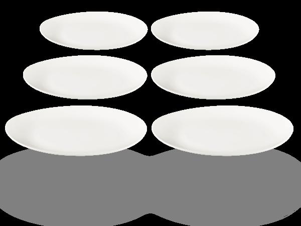 Buchensee Servierteller Porzellan, oval weiß Fine Bone China
