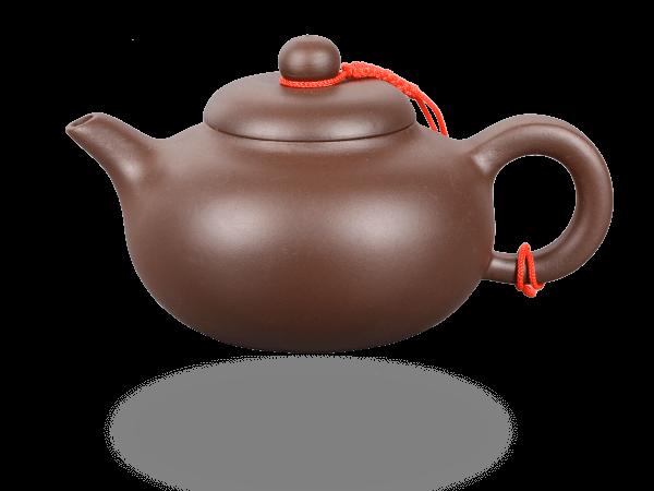 Chinesische Teekanne Ton hoch 250ml glatt dunkel