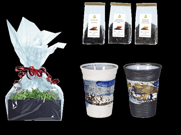 Tee Geschenk Japanische Teetassen 260ml blau