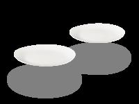 Buchensee Dessertteller Porzellan, oval weiß Fine Bone China