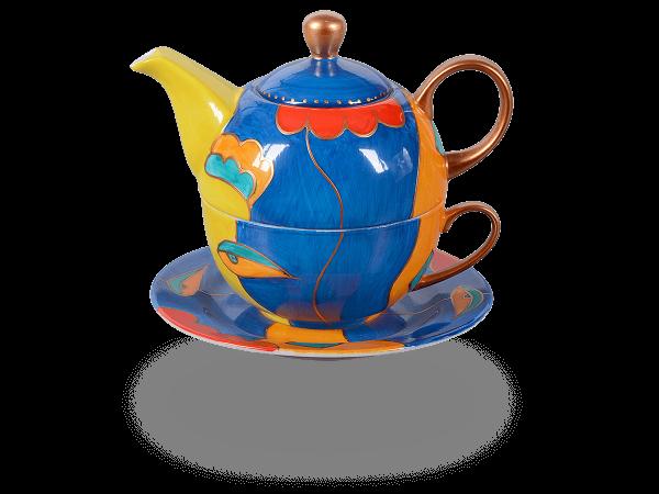 Tea for one, Modern Art Line Sissi 400 ml, dunkelblau