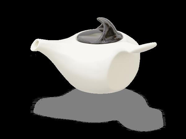 Teekanne Porzellan weiß, japanstil 0,75l