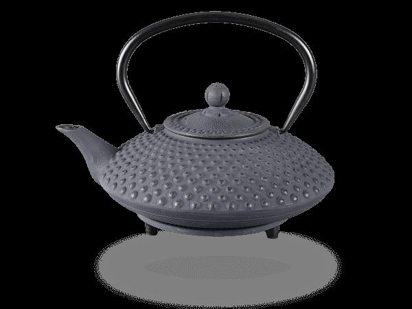 Teekanne Gusseisen Aneko 1,25l schwarz mit Sieb