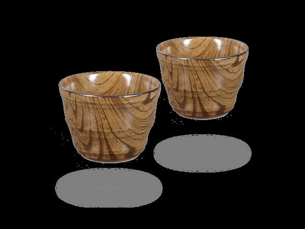 Japanische Teetassen im Holzdesign, 200ml