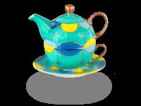 Tea for one, Modern Art Line Tina 400 ml, smaragdgrün