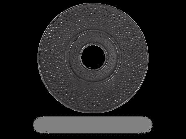 Untersetzer rund, schwarz fürTeekanne Gusseisen, 18cm