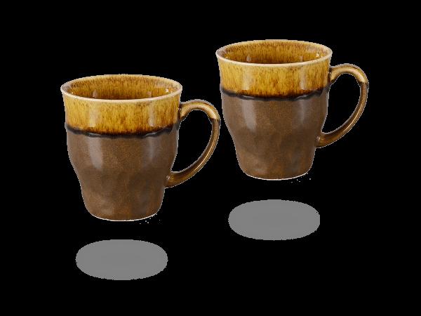 Japanische Teetassen dunkelbraun - hellbraun, 230 ml