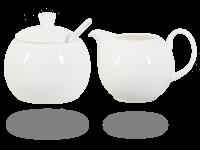 Buchensee Zuckerdose und Milchkännchen Fine Bone China