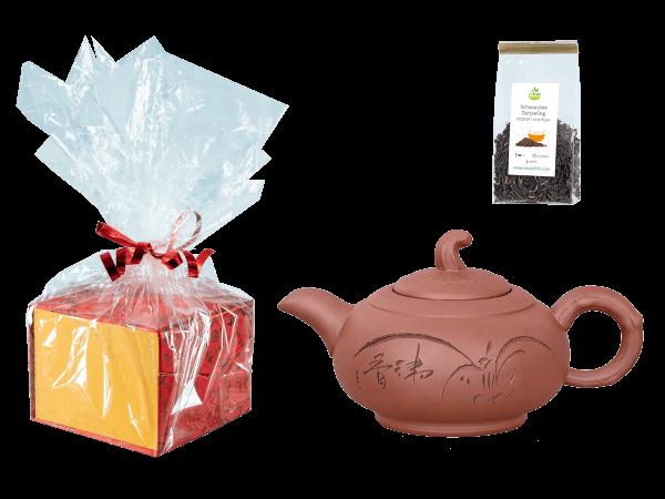 Tee Geschenk, Chinesische Teekanne Ton Jinan, 450ml