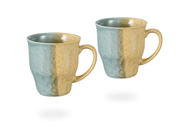 Japanische Teetassen blau - creme, 230 ml