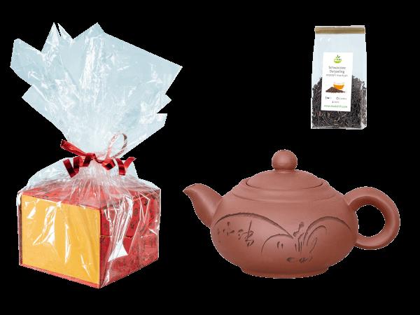 Tee Geschenk, Chinesische Teekanne Ton Shanghai, 350ml