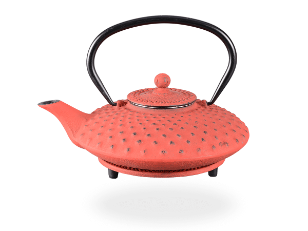 Teekanne Gusseisen Aneko 0,8l kirschrot mit Sieb
