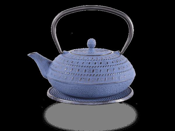 Teekanne Gusseisen Tama 1,2L japanblau mit Sieb