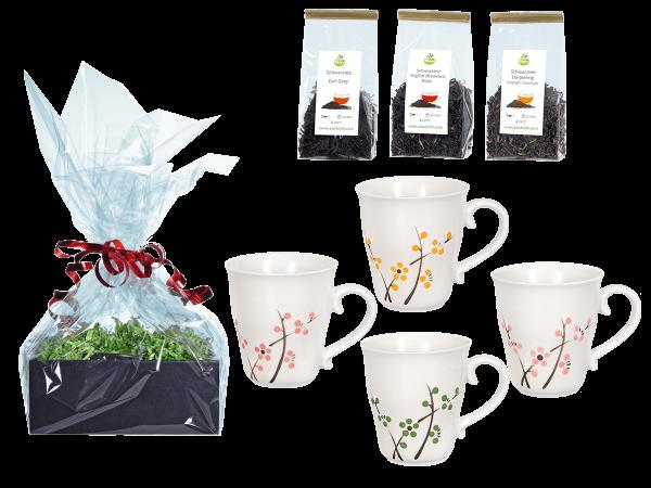 Tee Geschenk japanische Teetassen weiß Kirschblüte