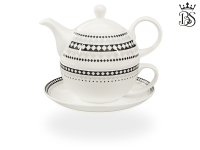 Tea for one, 400 ml, Fine Bone China, Rautendekor