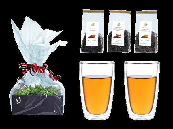 Tee Geschenk doppelwandige Glascups 360ml