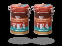 """Teedosen, Kaffeedosen """"Vintage Tea"""" rund 500g Aromaverschluss, 2 Stk"""