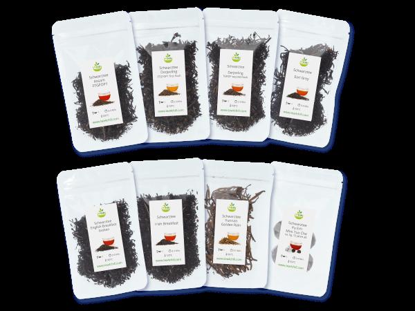 Tee Probierset mit 8 schwarzen Tees